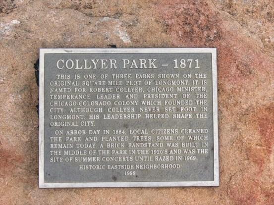 collyer park plaque