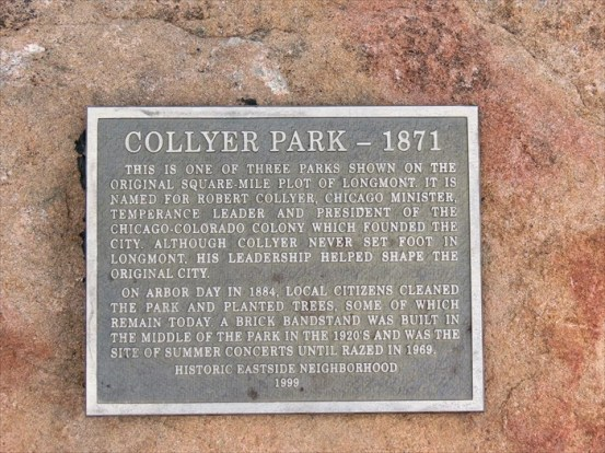 collyer park plaque